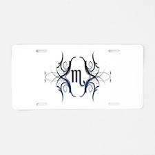 Scorpio Blue 1 Aluminum License Plate