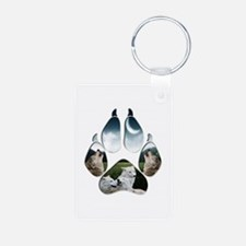 Wolf Print Aluminum Photo Keychain