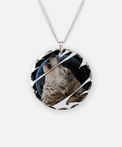 See Through Wolf Necklace