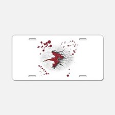 Raw Meat Aluminum License Plate