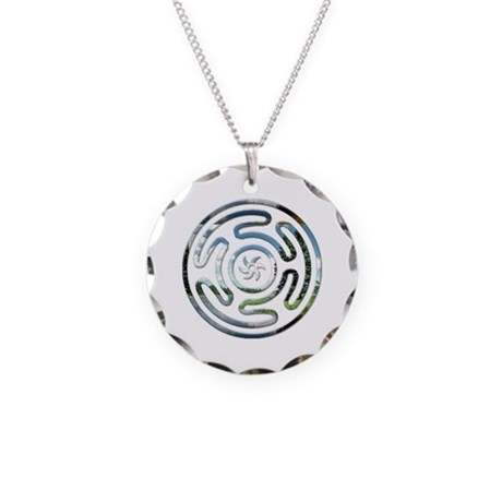 Hecate's Wheel Necklace Circle Charm