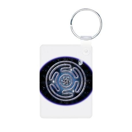Celestial Hecate's Wheel Aluminum Photo Keychain