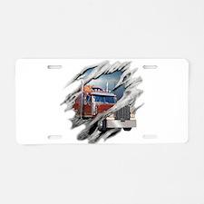 Torn Trucker Aluminum License Plate