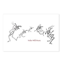 Grasshopper Fiddlers Postcards (Package of 8)