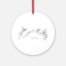 Grasshopper Fiddlers Ornament (Round)