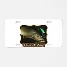 Musky Fishing 1 Aluminum License Plate