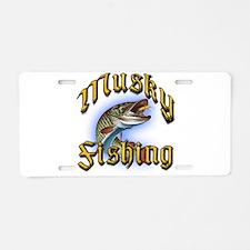 Musky Fishing 2 Aluminum License Plate
