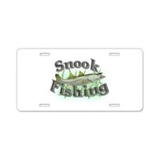 Snook Fishing Aluminum License Plate