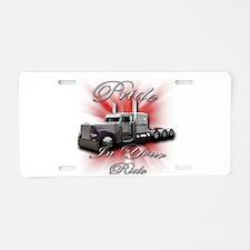 Pride In Ride 4 Aluminum License Plate