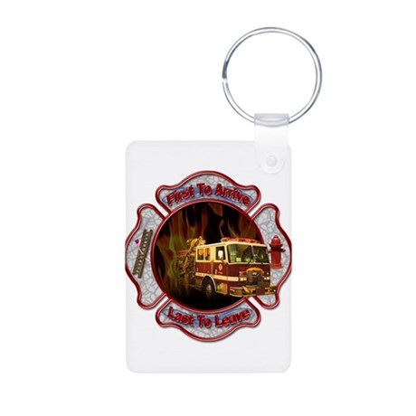 FireFighter Aluminum Photo Keychain