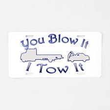 Blow-Tow Aluminum License Plate