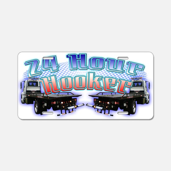 24 Hour Flatbed Aluminum License Plate