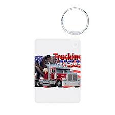 Trucking USA Keychains