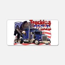 Trucking USA Aluminum License Plate