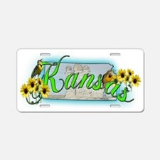 Kansas Aluminum License Plate