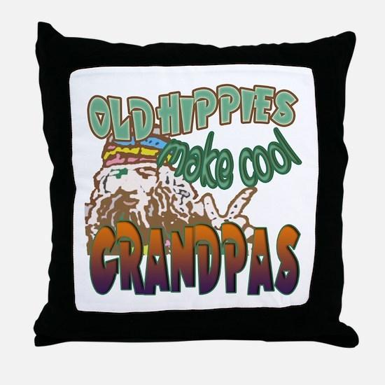ROCK N ROLL GRANDPA Throw Pillow