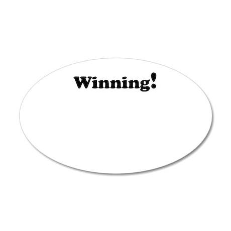 Winning! 22x14 Oval Wall Peel