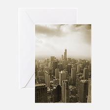 Chicago Skyline Sepia