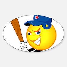 SMILEY softball {1} Decal