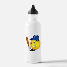 SMILEY softball {1} Water Bottle