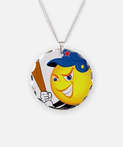 SMILEY softball {1} Necklace