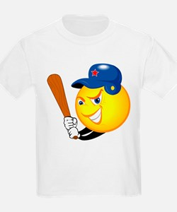 SMILEY softball {1} T-Shirt