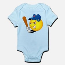 SMILEY softball {1} Infant Bodysuit