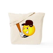 SMILEY softball (crimson) {1} Tote Bag