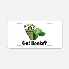 Got Books? Aluminum License Plate