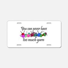 Yarn Aluminum License Plate
