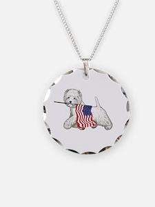 Patriotic Westie Necklace