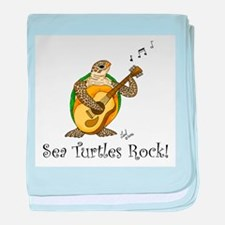 Sea Turtles Rock baby blanket
