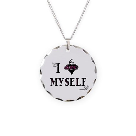 I Heart Myself - Necklace Circle Charm