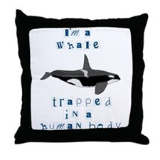 I'm a Whale Throw Pillow