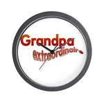 GRANDPA extraordinaire Wall Clock