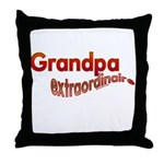 GRANDPA extraordinaire Throw Pillow