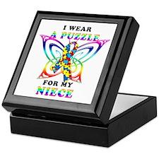 I Wear A Puzzle for my Niece Keepsake Box