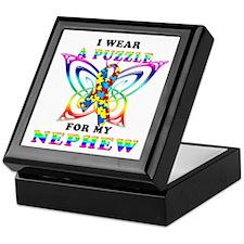 I Wear A Puzzle for my Nephew Keepsake Box