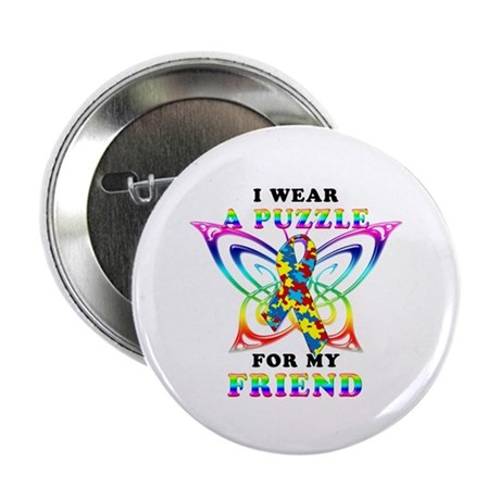 """I Wear A Puzzle for my Friend 2.25"""" Button (10 pac"""