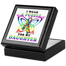 I Wear A Puzzle for my Daughter Keepsake Box