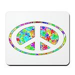 Peace Groovy Floral Mousepad
