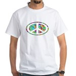 Peace Groovy Floral White T-Shirt