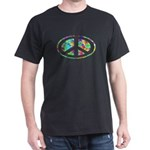 Peace Groovy Floral Dark T-Shirt