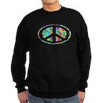 Peace Groovy Floral Sweatshirt (dark)