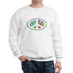 Peace Groovy Floral Sweatshirt
