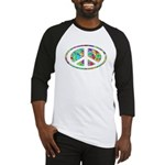 Peace Groovy Floral Baseball Jersey
