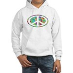 Peace Groovy Floral Hooded Sweatshirt