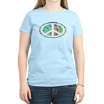 Peace Groovy Floral Women's Light T-Shirt