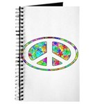 Peace Groovy Floral Journal