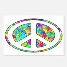 Peace Groovy Floral Postcards (Package of 8)